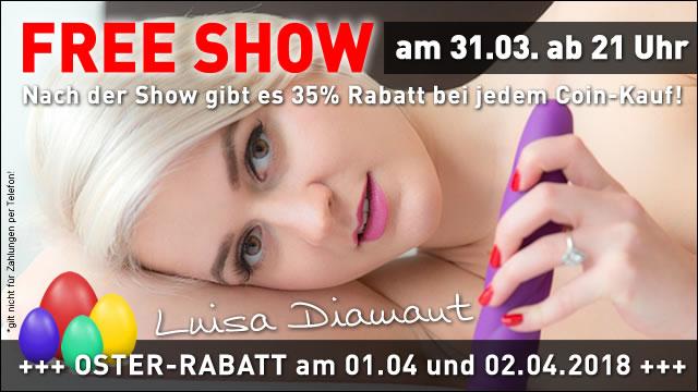Oster-Freeshow mit Luisa Diamant