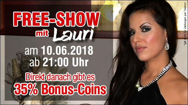 Kostenlose Livecam-Show mit Lauri